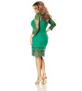 Rochie Plus Size Gratiela Verde