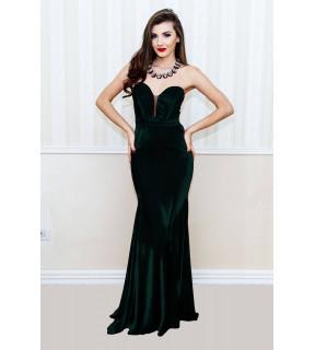 Rochie Lungă Medeea Verde Smarald
