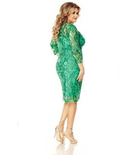 Rochie verde Plus Size Anemona