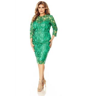 Rochie Plus Size Anemona Verde
