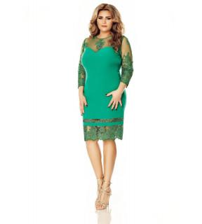 Rochie verde Plus Size Gratiela
