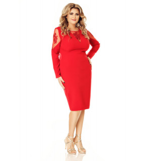 Rochie Plus Size Iman Roşie