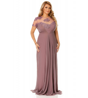Rochie Plus Size Lia Prună