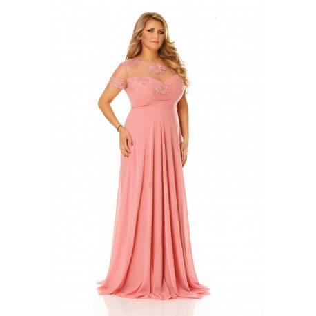 Rochie Plus Size Lia Roz Pudră