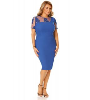 Rochie Plus Size Agata Albastră