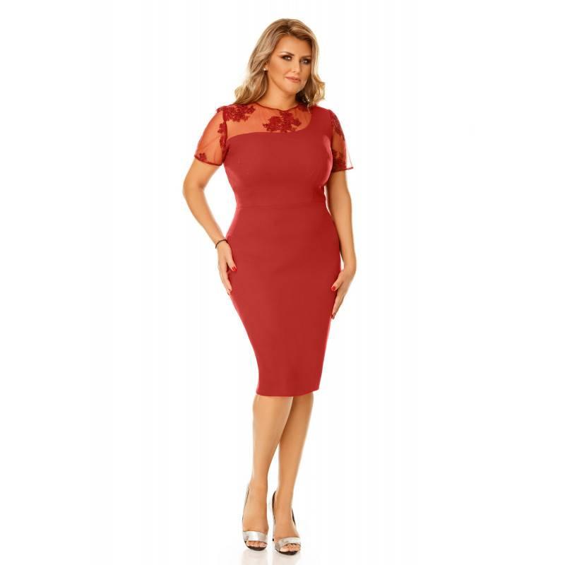 Rochie Plus Size Agata Bordo