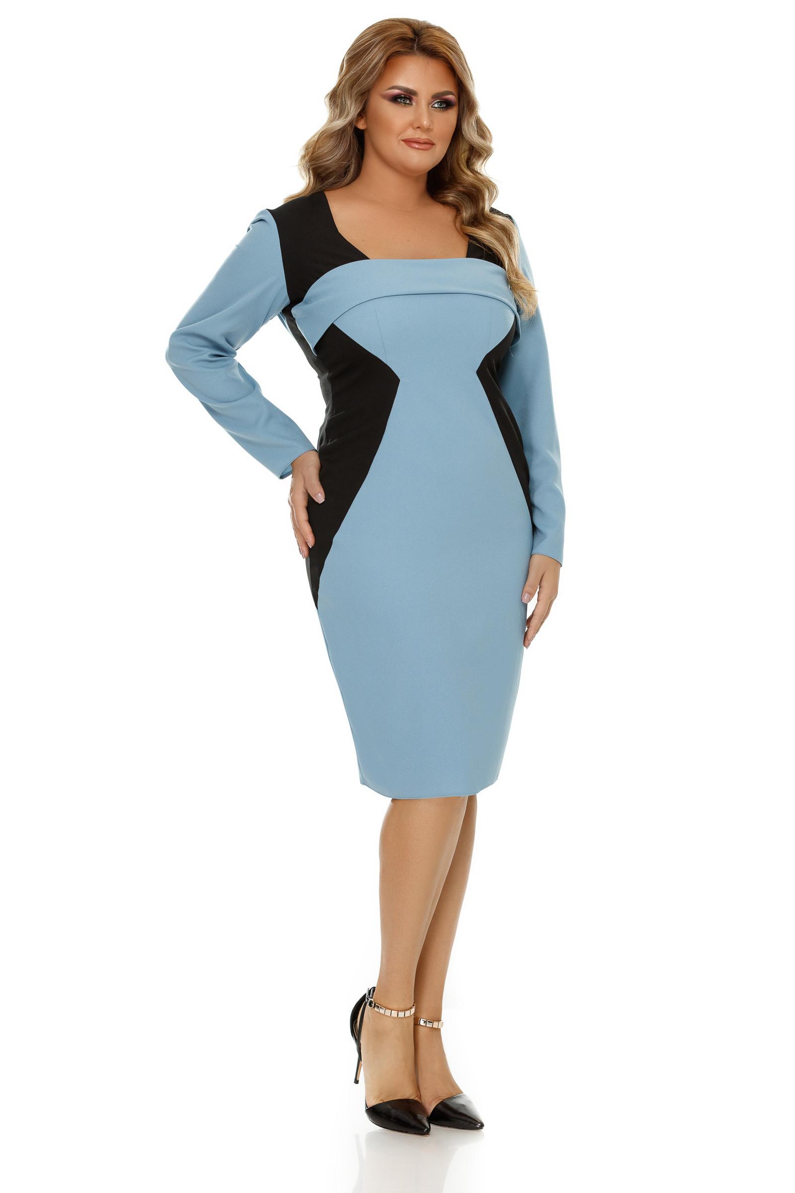 Rochie Plus Size Zora Bleu