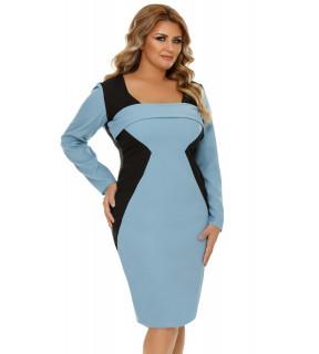 Rochie Plus Size Zora Bleumarin