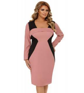 Rochie Plus Size Zora Roz Pudră