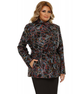 Jachetă Plus Size Eliana Multicolor