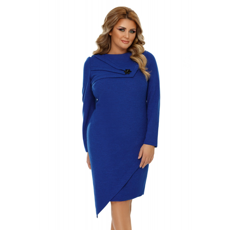 Rochie Plus Size Frida Albastră