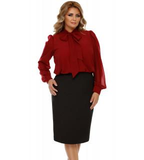 Rochie Plus Size Livia Bordo