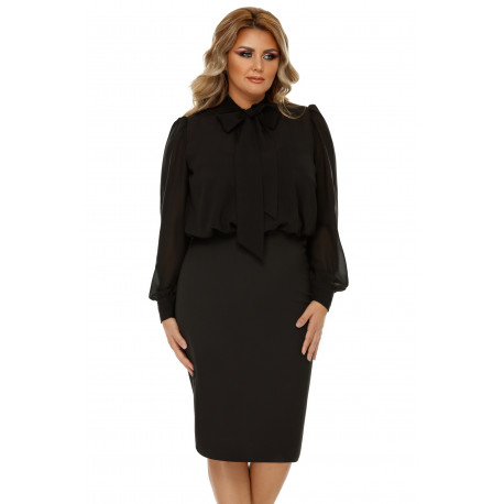 Rochie Plus Size Livia Neagră