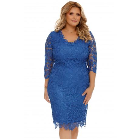 Rochie Plus Size Arella Albastră