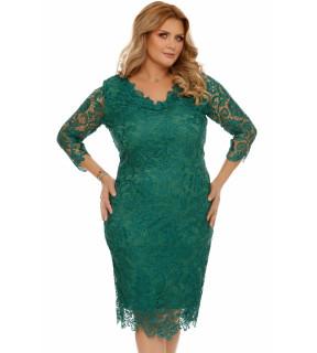 Rochie Plus Size Arella Verde