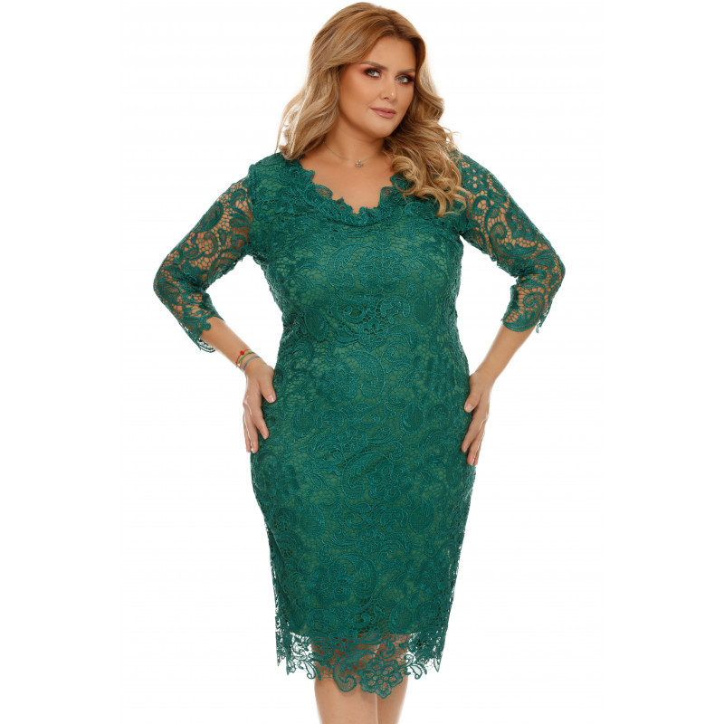 Rochie verde Plus Size Arella