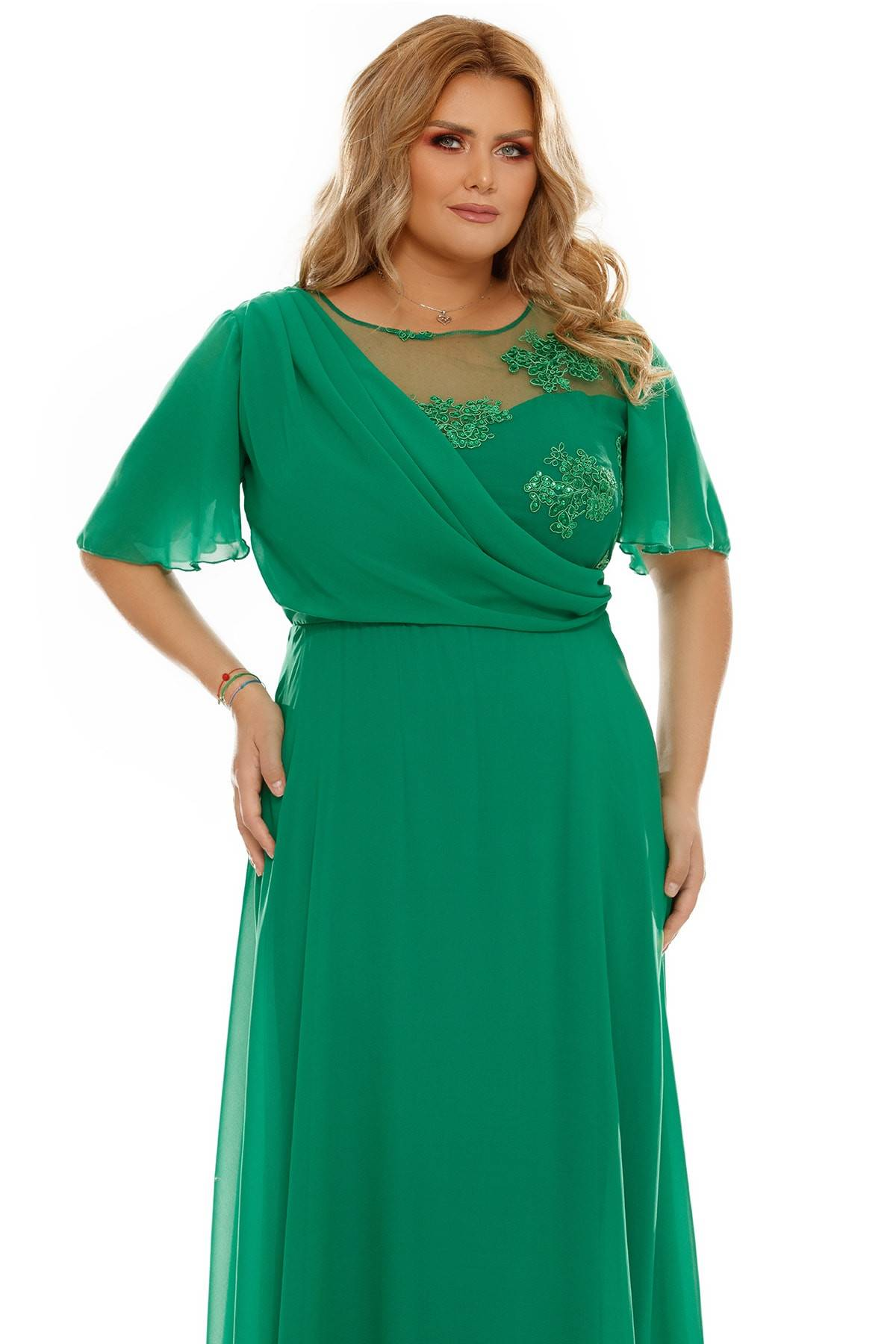 Rochie Plus Size Helen Verde
