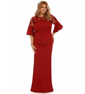Rochie Plus Size Ivona Bordo