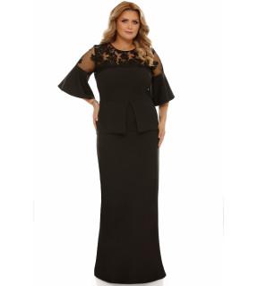 Rochie Plus Size Ivona Neagră