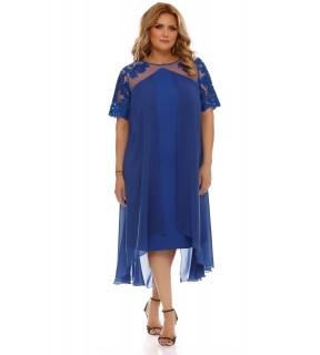 Rochie Plus Size Crina Albastră
