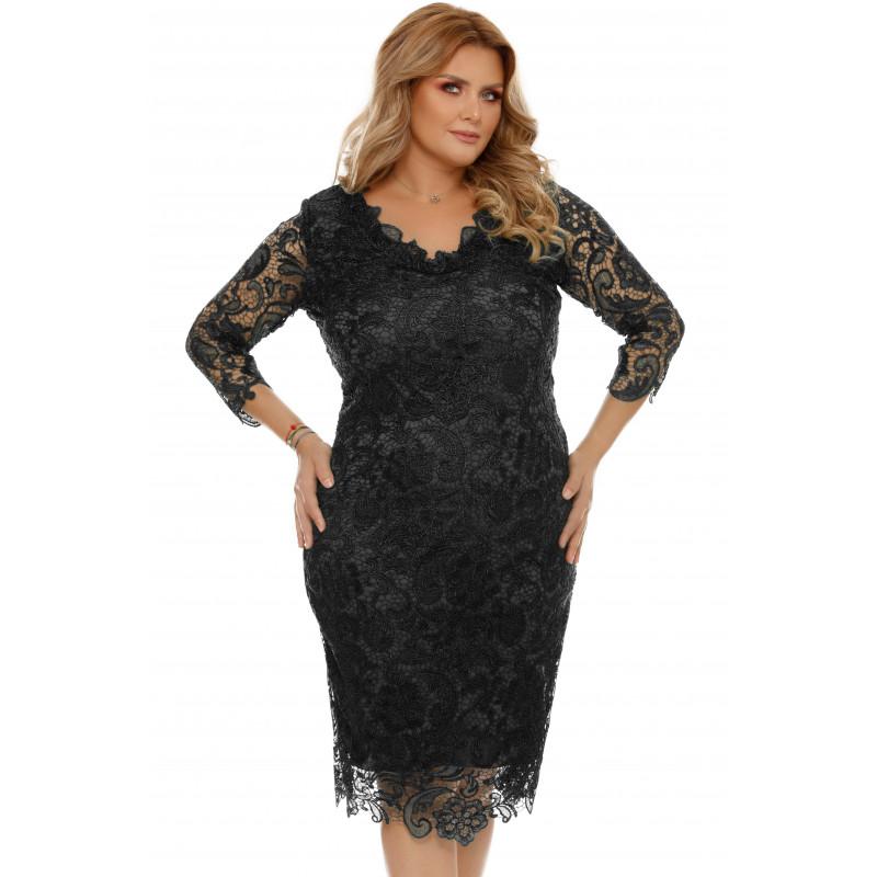 Rochie Plus Size Arella Neagră