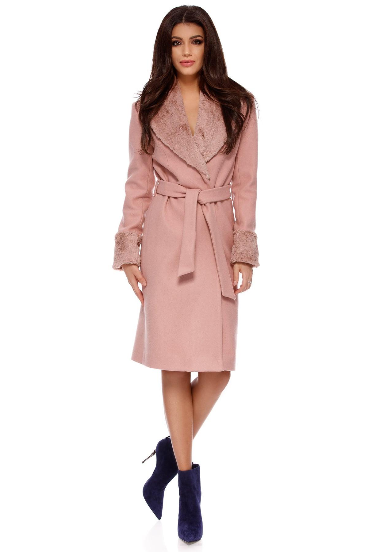 Palton Candy Roz Pudră