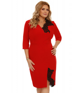 Rochie Plus Size Teresa Roşie