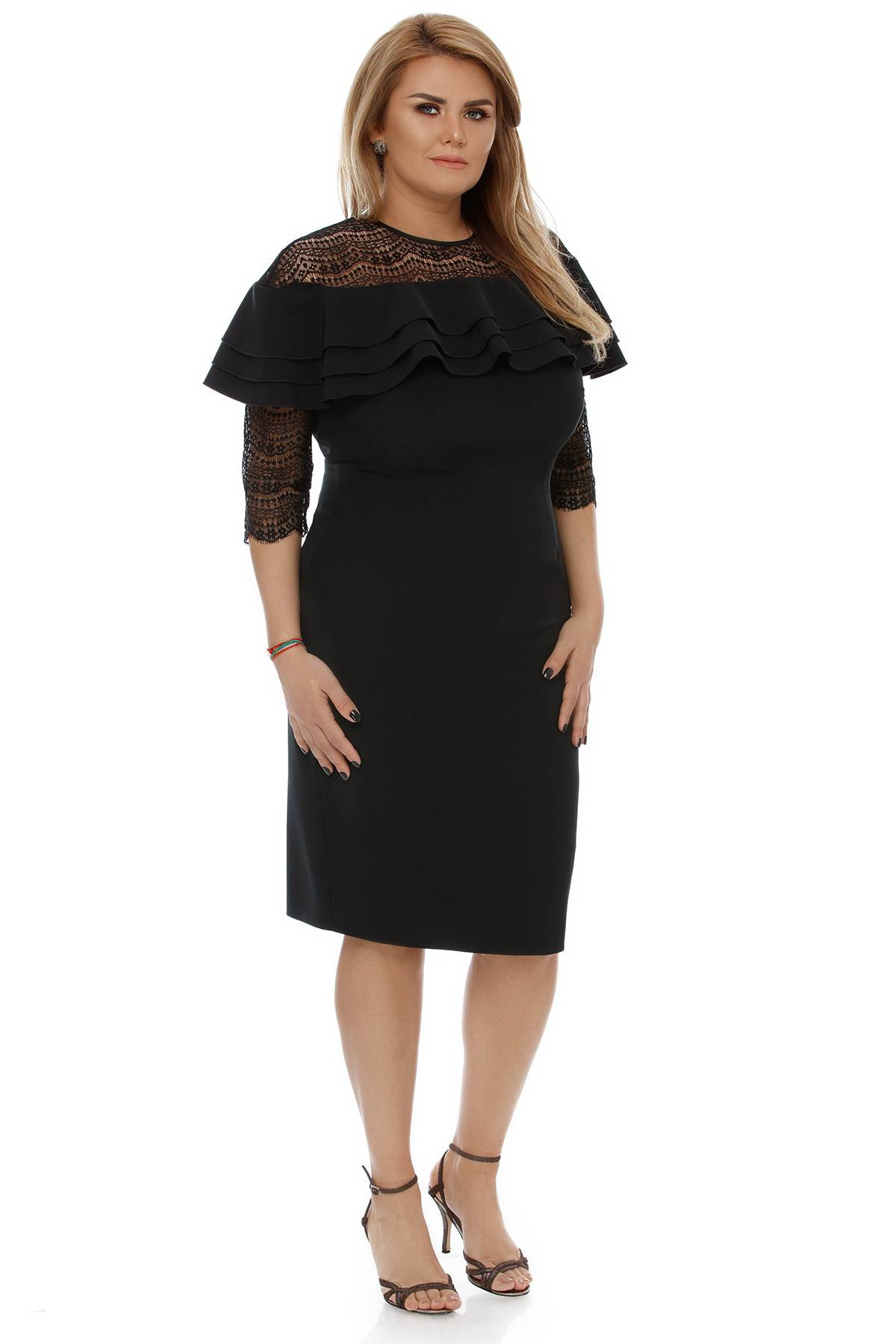 Rochie Plus Size Angeline Neagră