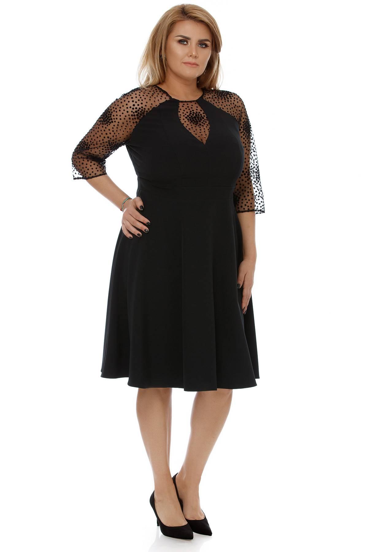 Rochie Plus Size Danielle Neagră