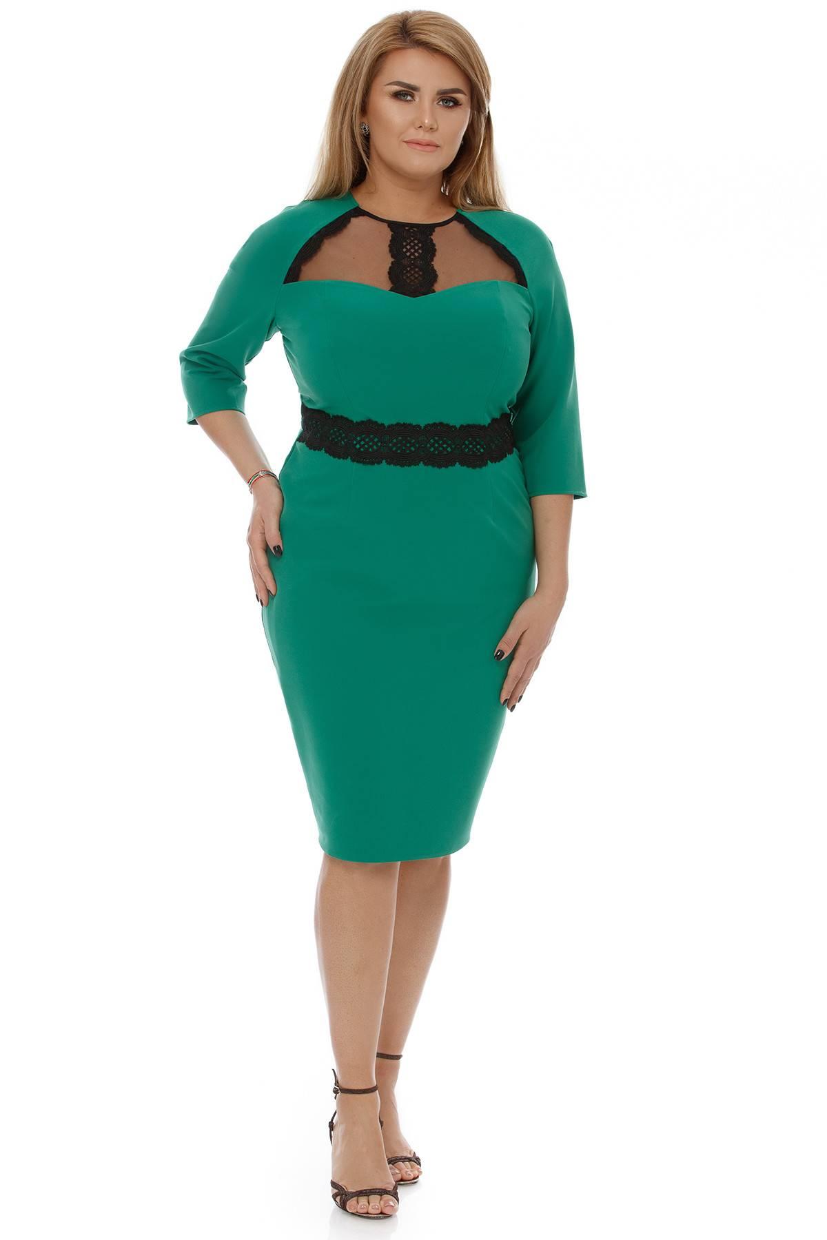 Rochie Plus Size Janine Verde