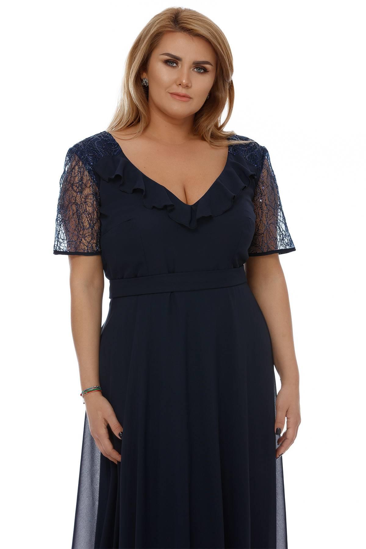 Rochie Plus Size Lavinia Bleumarin