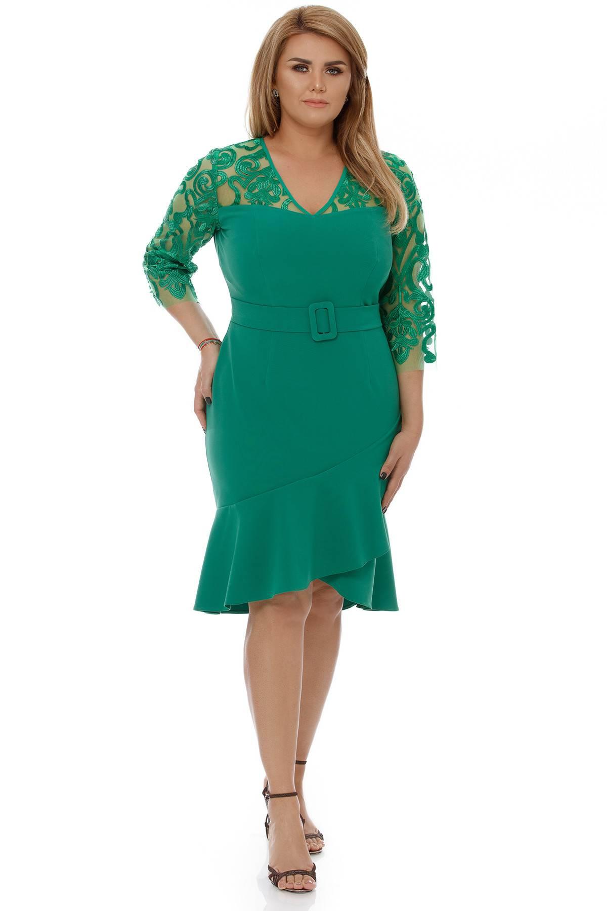 Rochie Plus Size Rebeca Verde