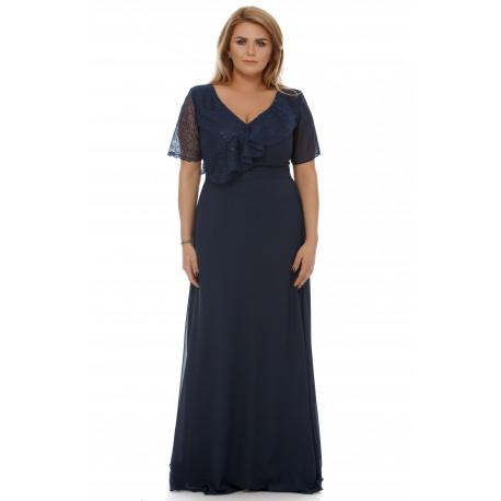 Rochie Plus Size Claudia Bleumarin
