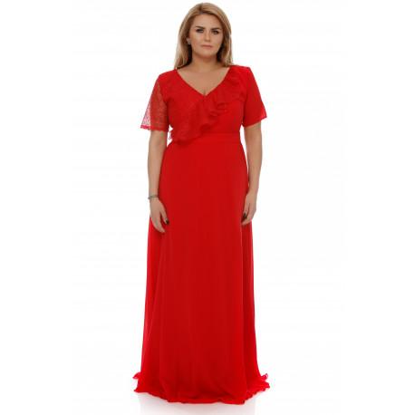 Rochie Plus Size Claudia Roşie
