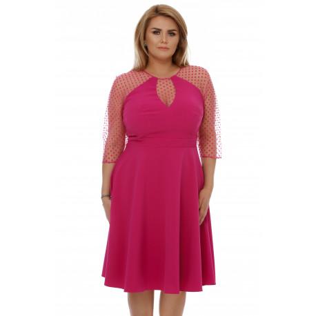 Rochie Plus Size Danielle Fucsia