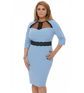 Rochie Plus Size Janine Bleu
