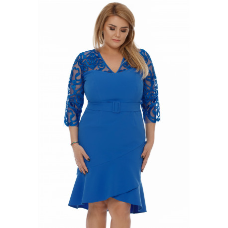 Rochie Plus Size Rebeca Albastră
