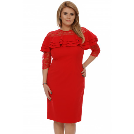 Rochie Plus Size Angeline Roşie
