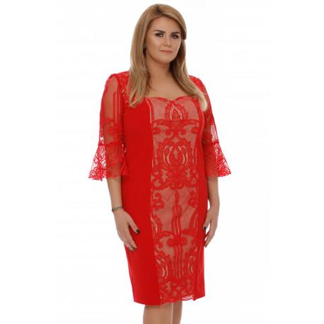 Rochie Plus Size Nicola Roşie