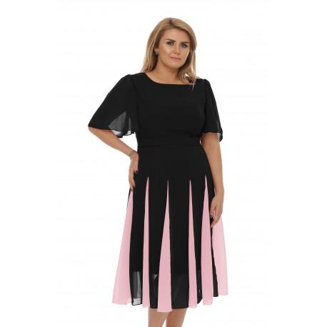 Rochie Plus Size Oana Neagră