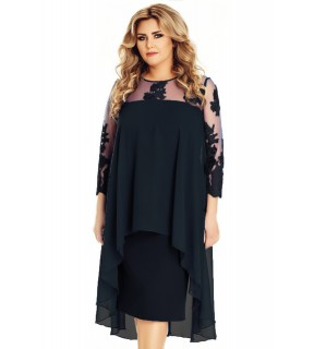 Rochie Plus Size Flora Neagră