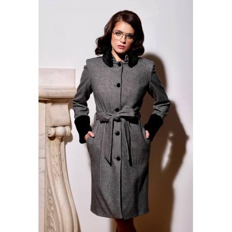 Palton Brenda Gri