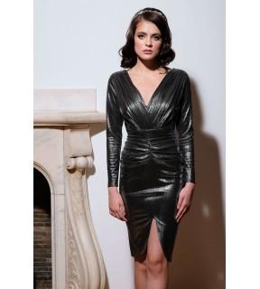 Rochie Elegance Gri Metalizat
