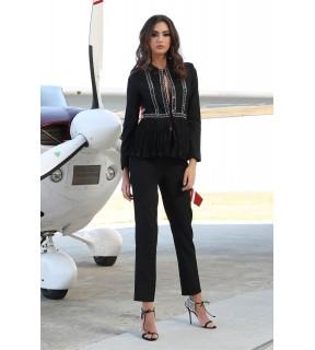Pantalon Charlene Negru
