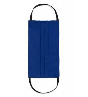 Mască de protecție pentru față, reutilizabilă, din bumbac albastră