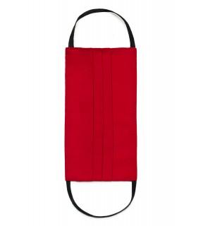 Mască de protecție față din bumbac roșie