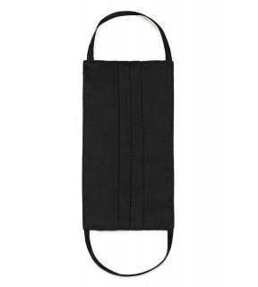 Mască de protecție pentru față, reutilizabilă, din bumbac neagră