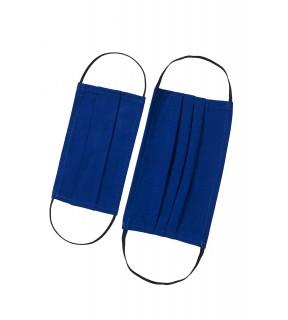 Mască de protecție față pentru copii, reutilizabilă, din bumbac albastră