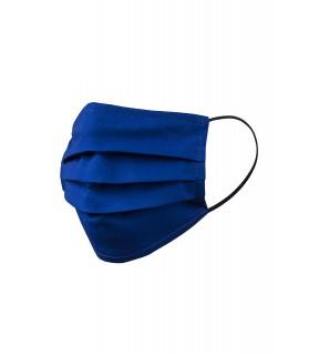 Mască de protecție față din bumbac albastră