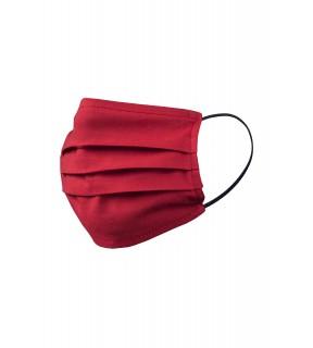 Mască de protecție pentru față, reutilizabilă, din bumbac roșie